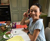 英会話教室での写真012 レッスン中に撮りました。