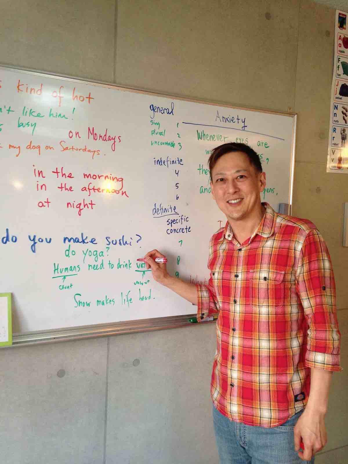 英会話・英語教師 マイク・ニマ先生の写真。