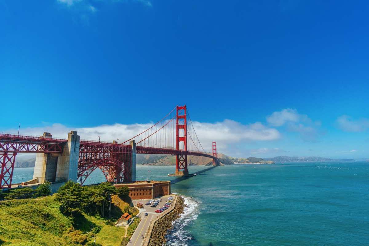 サンフランシスコのゴールデンゲートブリッジの写真。