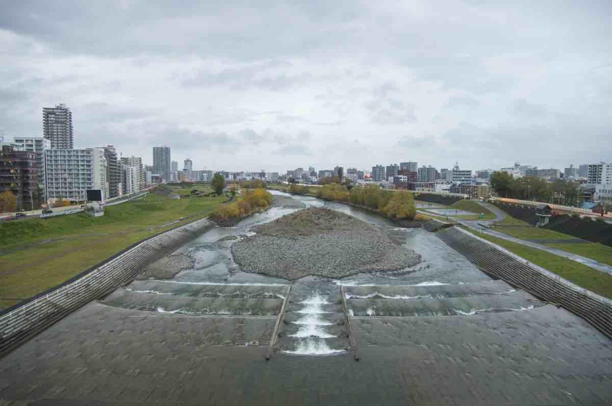 札幌の豊平川の写真。