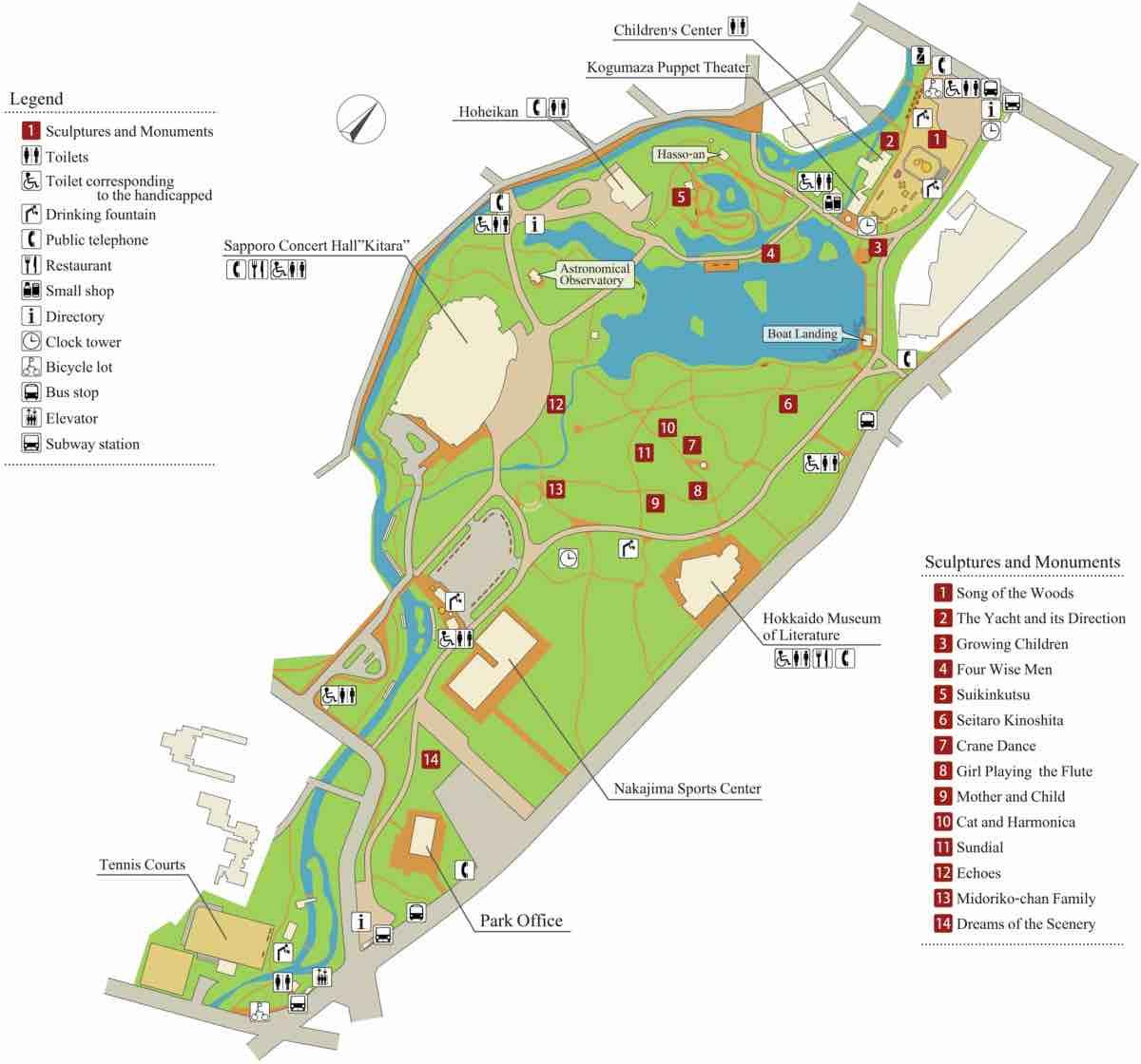 Nakajima Park Map