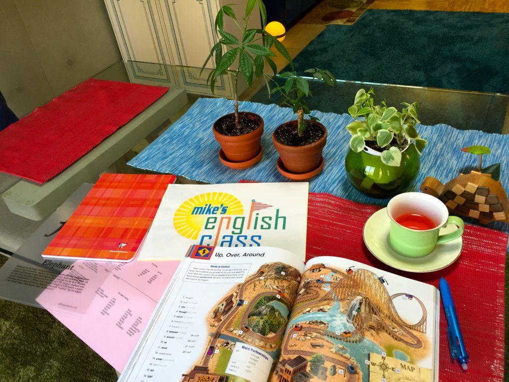 英会話レッスンは紅茶を飲みながら。