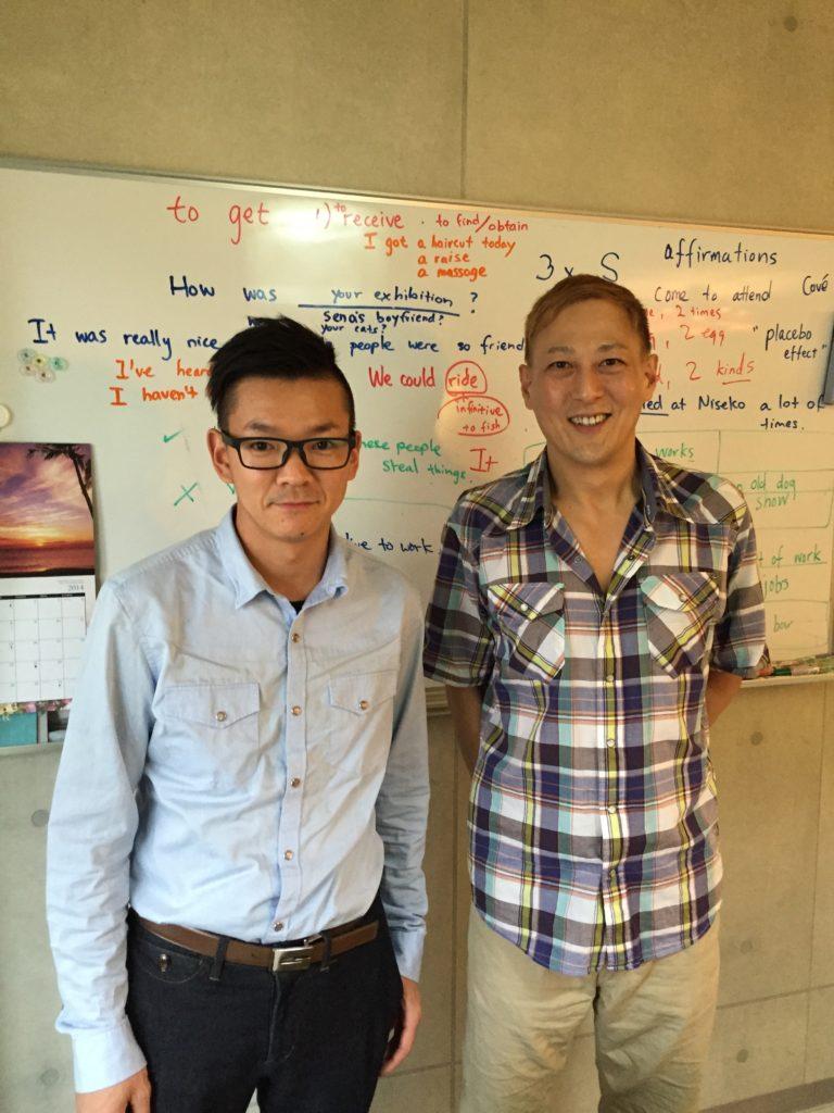 英語のレッスンの後で生徒さんと写真を撮りました。