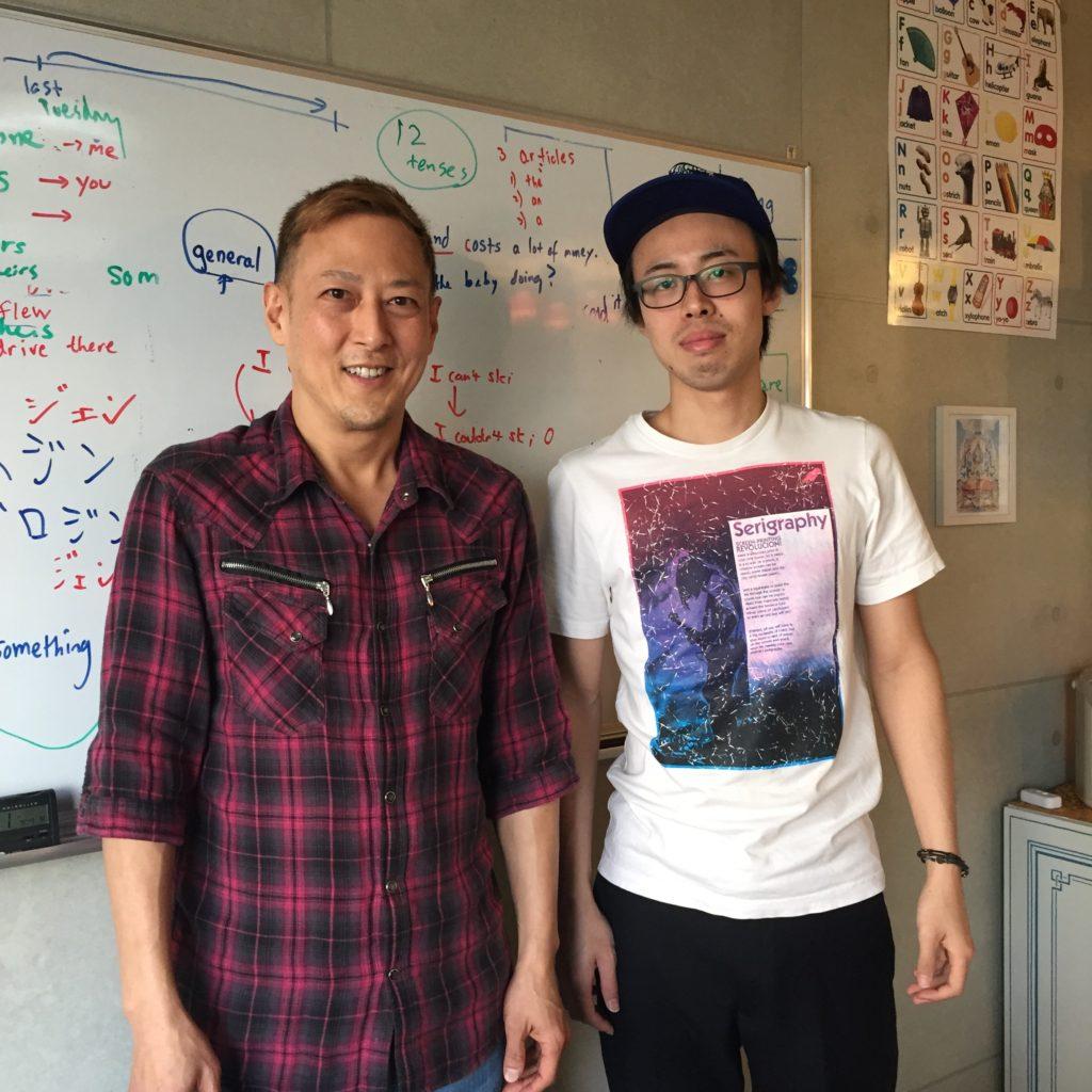 英会話レッスン後に生徒さんと写真を撮りました。