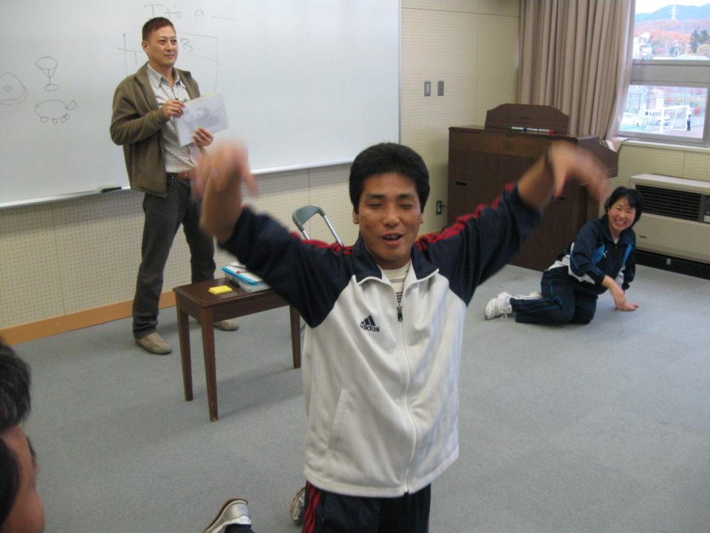英会話授業の後で撮りました。
