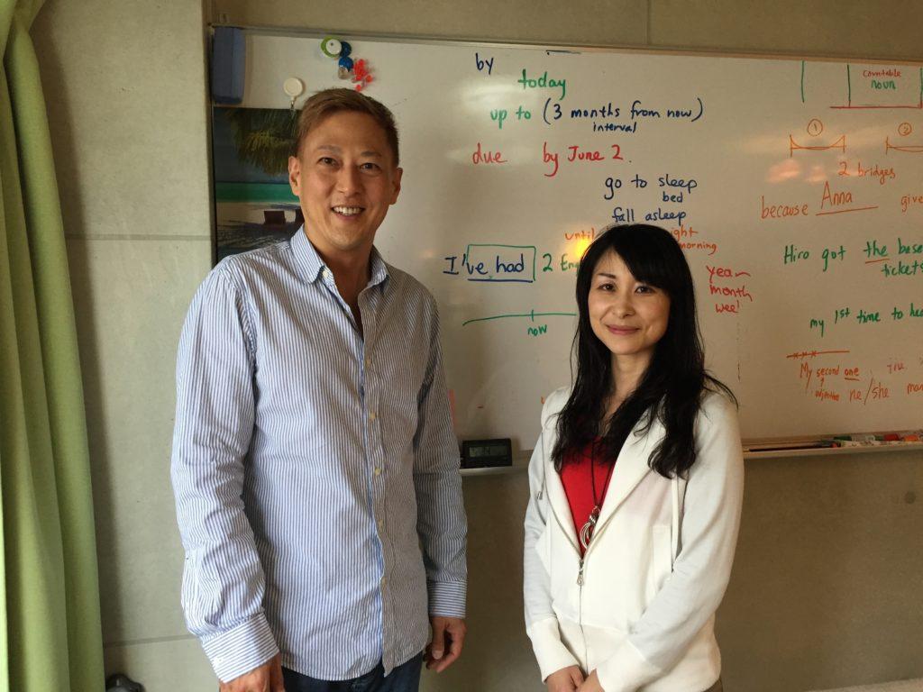 英会話レッスンの後で生徒さんと写真を撮りました。