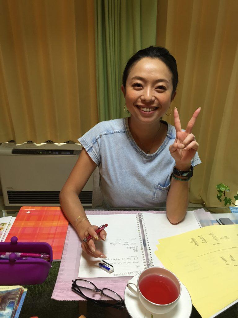 英語を勉強中の生徒さんです。