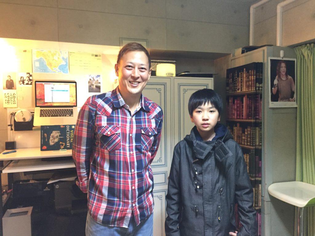 英語のレッスン前の生徒さんと撮りました。