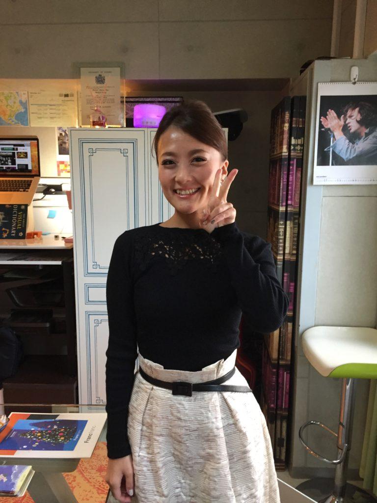 札幌中央区の教室で、ニコニコ。