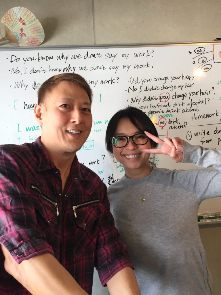 英会話スクール教室で、パシャリ!